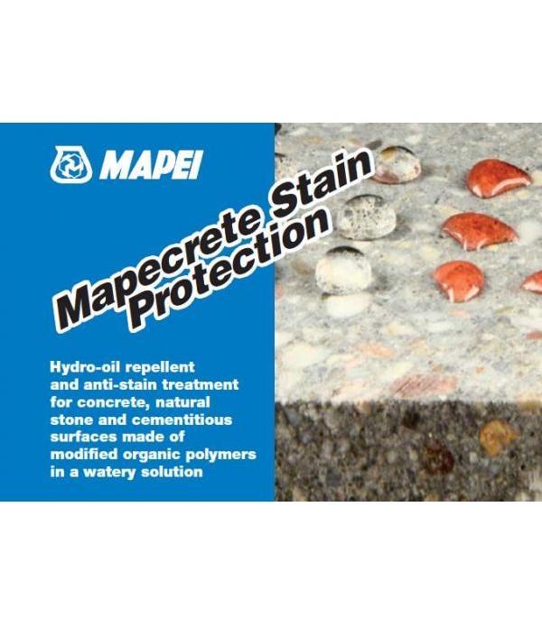 Mapei MAPECRETE STAIN PROTECTION, galeata 25kg Tratament hidrofobizare si crestere a rezistentei la patare interior si exterior