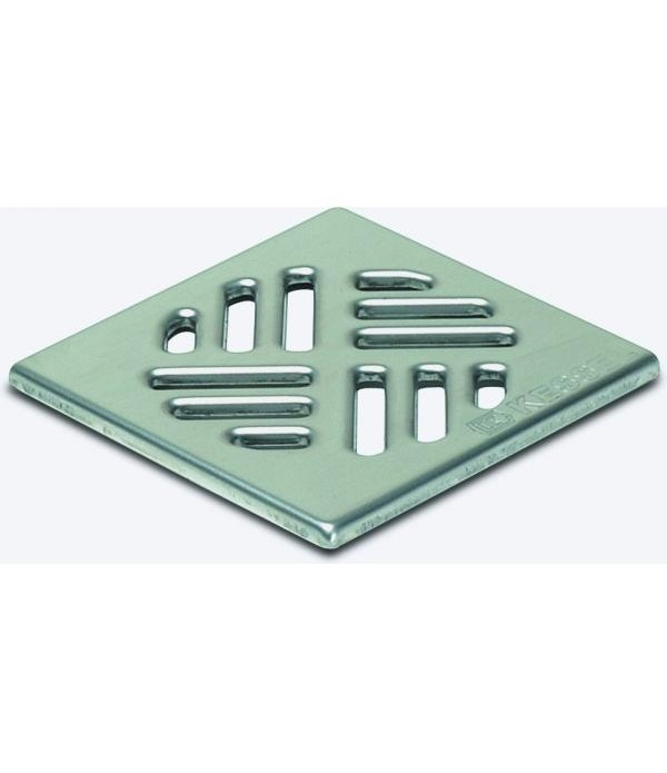 Sifon Kessel 27150, Cover, stainl. steel, 100x100m...