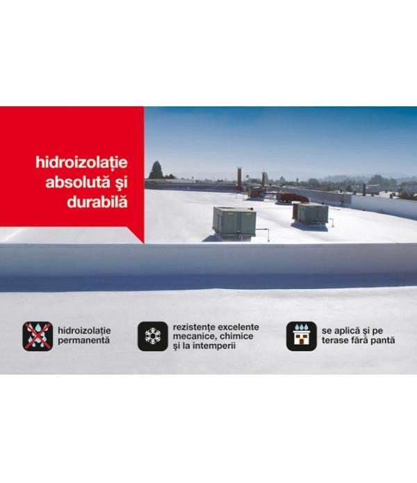 ISOMAT ISOFLEX-PU 500, MATERIAL HIDROIZOLANT PENTRU TERASE 1 kg