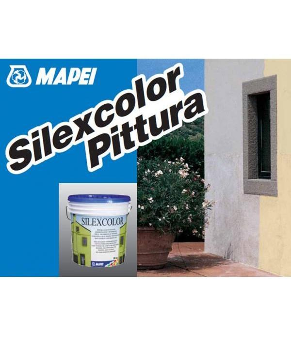 Vopsea silicatica, permeabila, pentru protectia si decorarea suprafetelor din ciment, var-ciment sau var, Mapei SILEXCOLOR PITTURA, galeata 20kg