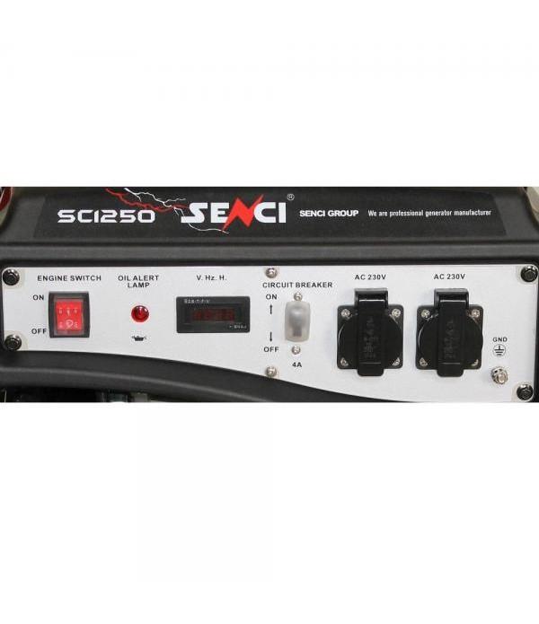 Generator de curent electric SENCI SC-1250 Putere max. 1,0kW , 230V-50Hz , Benzina